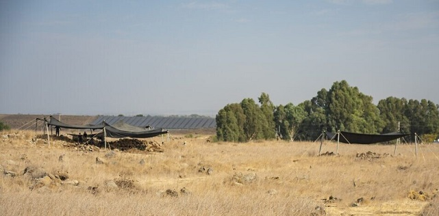 The Israel Antiquities Authority excavation at the Golan's Hispin, where a circa 11th century fort was discovered. (Yaniv Berman, Israel Antiquities Authority)