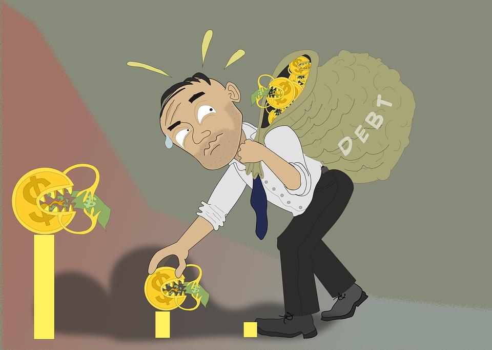 debt-Debt Loan Credit Money Finance Expenses Budget credit Rilsonav Pixabay