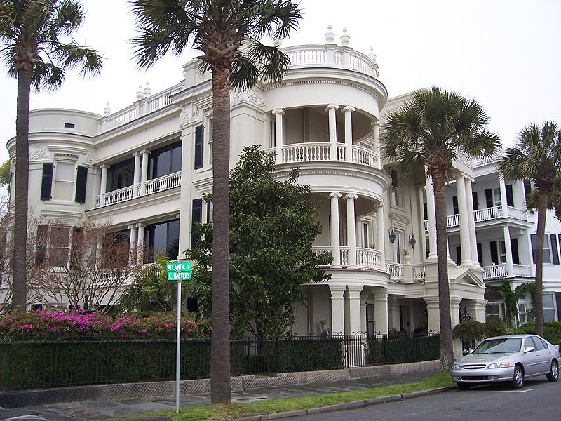 A historic home on The Battery, a neighborhoodpark area in the Downtown historic district of the peninsula Charlestonhome South Carolina