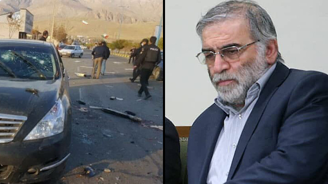 Iran Nuclear The scene of the assassination, Mohsen Fakhrizadeh- Fars News Agency