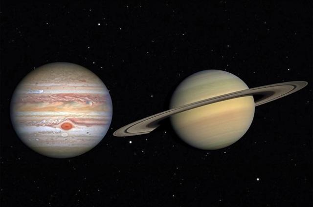 Saturn and Jupiter NASA