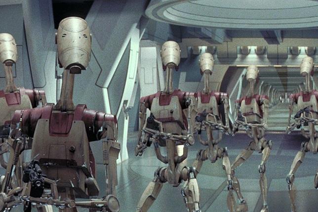 Star Wars Droid Soldiers (Phantom Mencae movie clip)