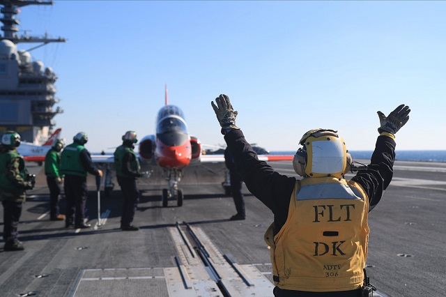 USS Gerald R. Ford Catapult Plane Launch Facebook