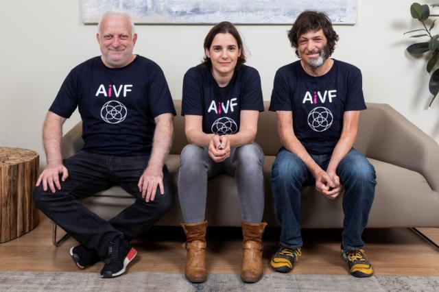 AiVF's leading team. L-R Professor Daniel Seidman, MD., Daniella Gilboa Prof. Dan Ariely/ Photo Eyal Toueg