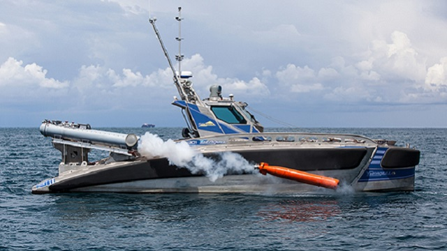Seagull torpedo trial. Photo credit Galina Kantor Elbit