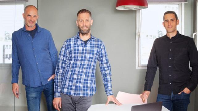 Spoutt Co-Founders Yoav Shaham, Assaf Henkin, and Itai Brickner company Photo Lynn Counio