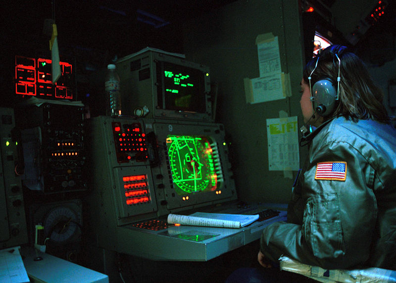 US Nuclear Command Authority -CIC-USS-CarlVinson- U.S. Navy Photo by Photographer's Mate Airman Inez Lawson. (2001) Wikipedia