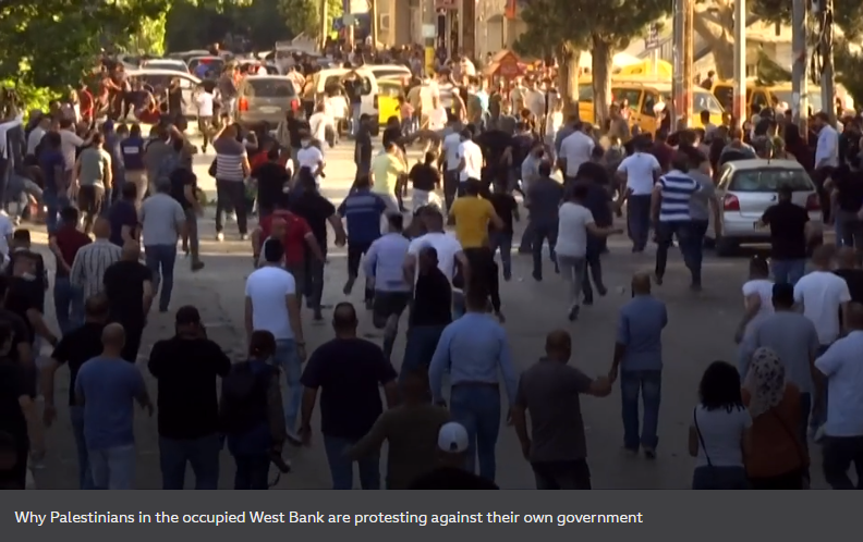 Palestinians in the West Bank are protesting against their own government
