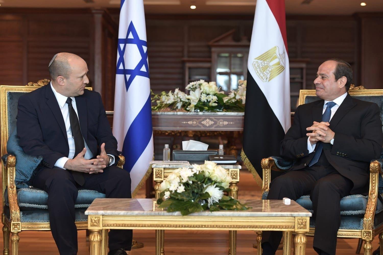 Israel's Prime Minister Naftali Bennett met Egypt's President Abdel Fattah el-Sisi in Sharm el-Sheikh credit Koby Gidon GPO 2021