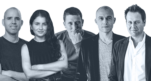 NFX team (from right), Pete Flint, Gigi Levy-Weiss, James Currier, Morgan Beller and Omri Amirav Drory. Photo NFX