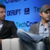 Guy Oseary with Ashton Kutcher in TechCrunch Disrupt 2013 screenshot