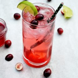 Cranberry Vodka Spritzers