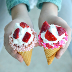 Dipped & Sprinkled Ice Cream Cones