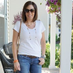 Spring Outfit Inspiration: White and Denim
