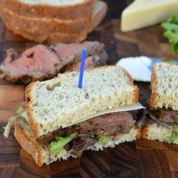 Beef Tenderloin Sandwich with Horseradish Cream