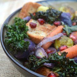{Gluten-Free} Winter Panzanella Salad Recipe