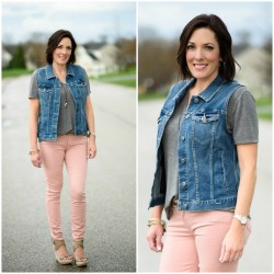 How to Wear Pale Pink Skinny Jeans
