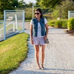 Summer Outfit: Lace-Up Flats with Shorts