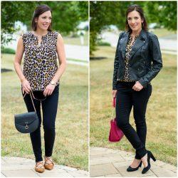 Leopard Silk Blouse Two Ways