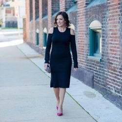 Cold Shoulder Dress for Your Winter Parties