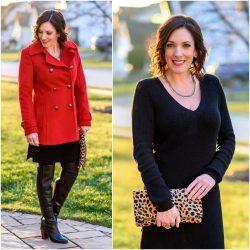 Versatile Black Sweater Dress