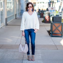 High Rise Jeans + Cropped Sweater