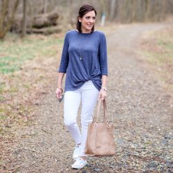 Spring Weekend Outfit with Nordstrom: Twist Front Pullover
