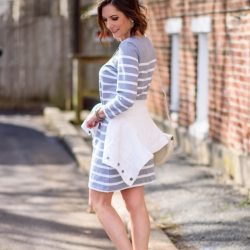 Spring Weekend Style: Casual Stripe Dress with Converse