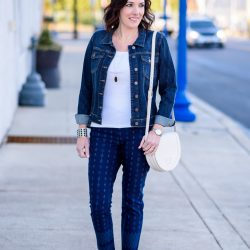 Printed Pants Outfit for Spring