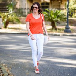 Orange & White in Savannah #FashionFriday