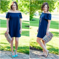 Off-the-Shoulder Dress Two Ways