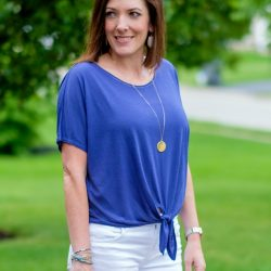 Tie Front Tee & Shorts Outfit