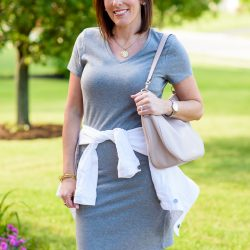 T-Shirt Dress Outfit (A Nice Alternative to Shorts)
