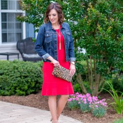 Flirty Red Sweater Dress for Summer