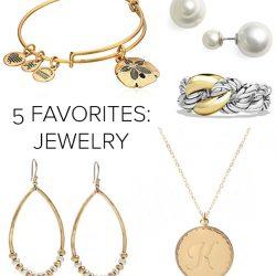 5 Favorites: Jewelry Edition