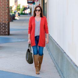 Orange Cardigan for Fall #FashionFriday
