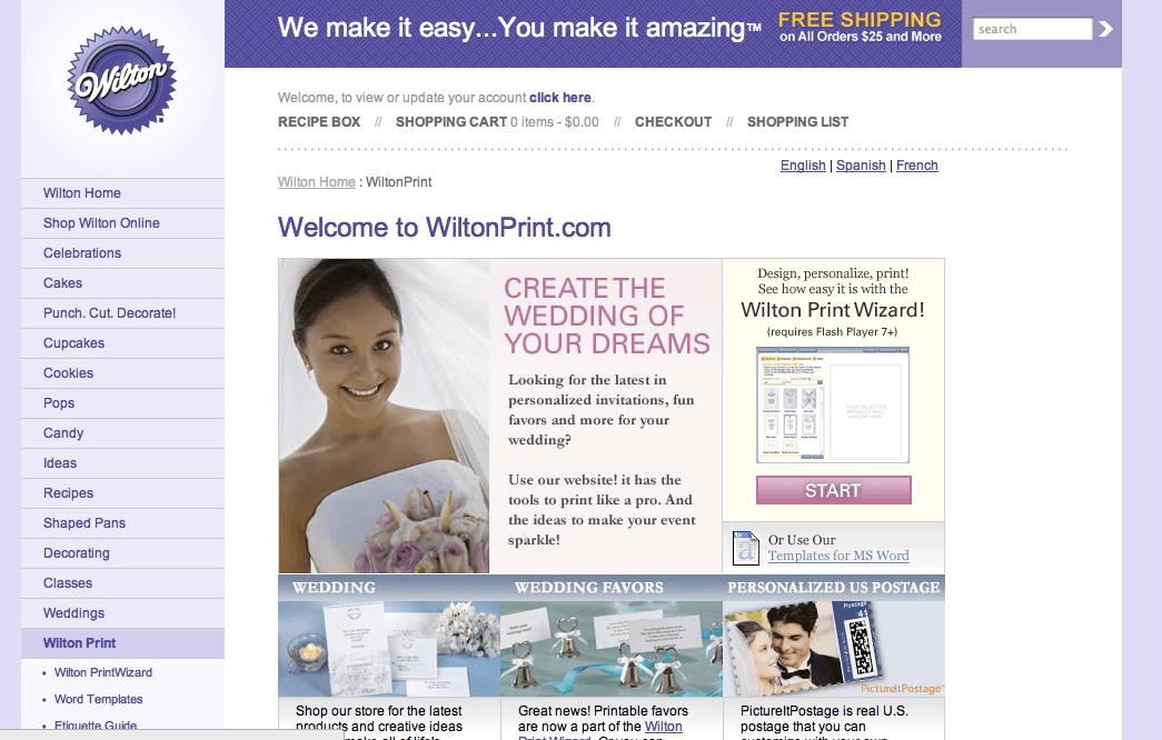Wilton Wedding Invitations Template: Wiltonprint.com - Invitations For Weddings