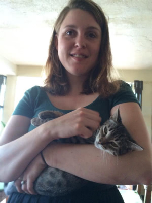 emma mcgowan with cat