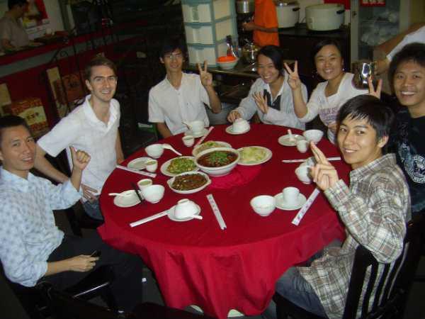 crew eating