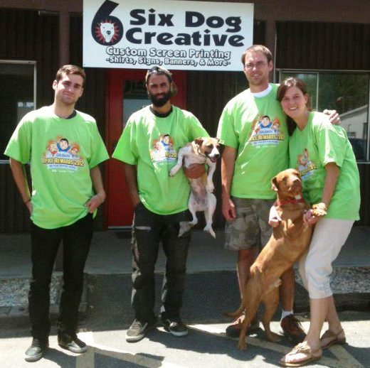 six dog t-shirt co. team
