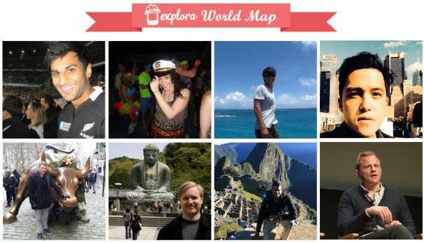 explora world map