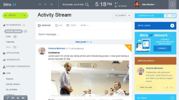 Bitrix activity stream