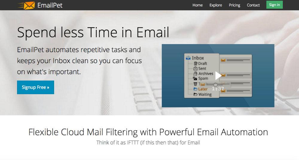 emailpet landing