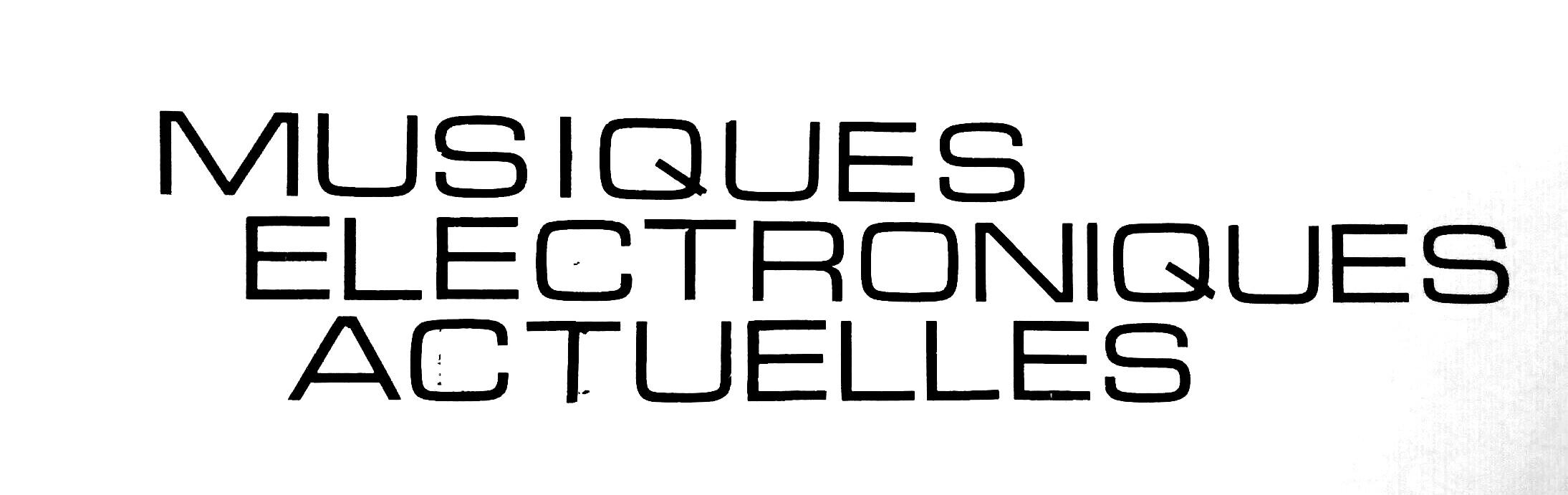 Profile picture for Musiques Electroniques Actuelles