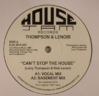 Album artwork for Can't Stop The House