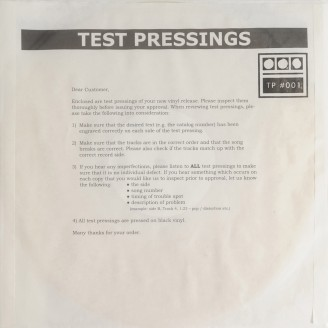 Album artwork for Testpressing#001
