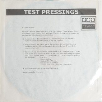 Album artwork for Testpressing#002