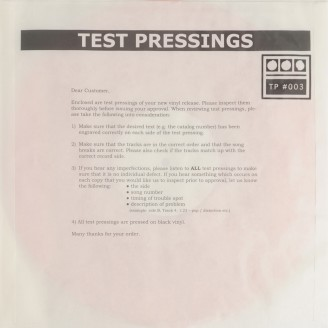 Album artwork for Testpressing#003
