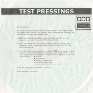 Album artwork for Testpressing#004