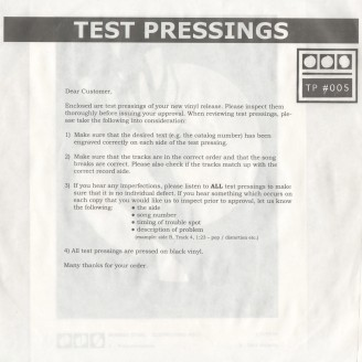 Album artwork for Testpressing#005